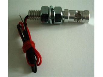 Leuchtschraube LED, Alu, silber, D= 10 x 18 mm