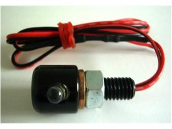 Leuchtschraube LED, Alu, schwarz, D= 16 x 15 mm