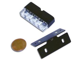Mini-LED-Nummernschildbeleuchtung, schwarz, E-gepr.