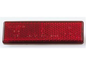 Reflektor, eckig/selbstklebend, 90x25 mm, E-gepr.