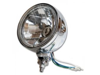 """Scheinwerfer 5-3/4"""" mit Standlichtring, H4, Prismenreflektor, chrom, E-geprüft"""
