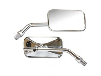 Universalspiegel-verchromt rechteckig Paar