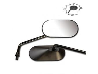 AGILA Universalspiegel, Paar, schwarz, 10mm Rechtsgewinde