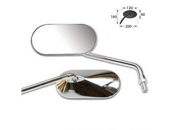 AGILA Universalspiegel, Paar, verchromt, 10mm Rechtsgewinde