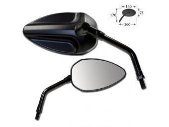 Padua Universalspiegel, Paar, schwarz, e-geprüft