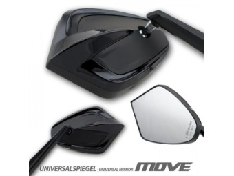 """Universalspiegel """"MOVE"""", Aluminium, schwarz, Paar, E-geprüft"""
