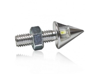 LED-Leuchtschraube, silber, Alu, M8