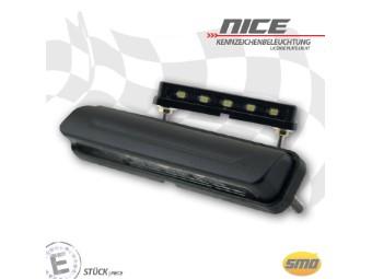LED Kennzeichenbeleuchtung e-geprüft schwarz