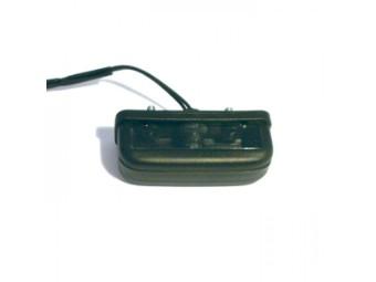 Kennzeichenbeleuchtung, rechteckig, schwarz, E-geprüft
