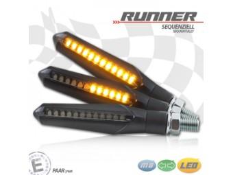 LED-Blinker Runner, sequenziell, schwarz, getönt, Paar