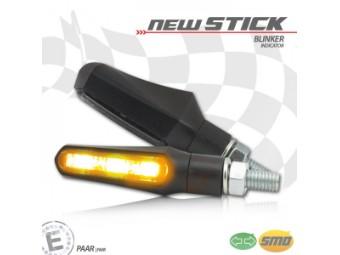 SMD-Blinker New Stick schwarz getöntes Glas Paar E geprüft