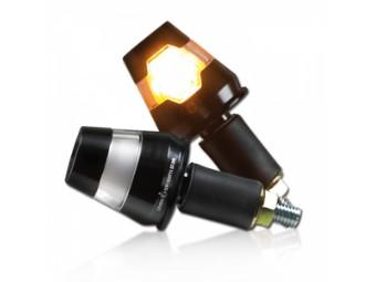 """ALU-Lenkerendenblinker """"Conic"""" mit LED, schwarz, Paar"""