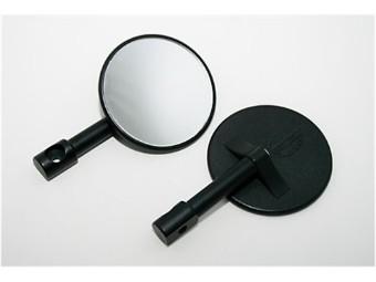 Minispiegel f.Lenkerende, rund, schwarz, Paar