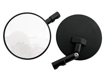 Spiegel f.Lenkerende, rund, schwarz, verstellbar