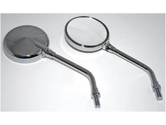 Mini-Spiegel rund, innenverstellbar, chrom, Paar