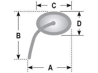 Spiegel AGILA, oval, chrom, verstellbarer Stiel