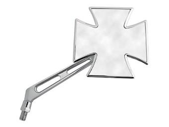Chopper-Spiegel GOTHIC, chrom, rechte Seite