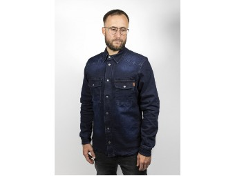 Motoshirt Hemd Denim dark blue