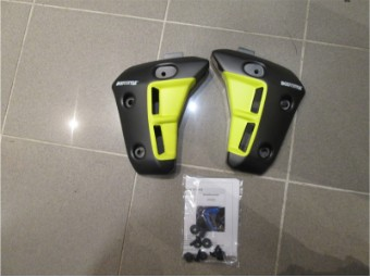 Kühlerseitenverkleidung grau gelb MT07