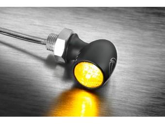 LED-Blinker Bullet Atto Dark, getöntes Glas
