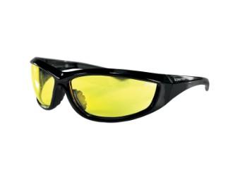 Motorradbrille Charger gelb