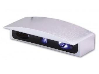 Micro-LED-Nummernschildbel., Alu-Gehaeuse silber