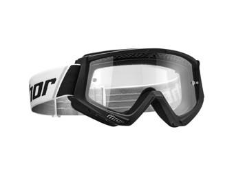 Motocrossbrille Combat schwarz/weiss