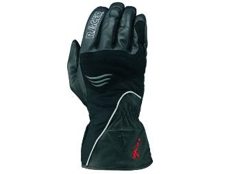 Motorradhandschuh NAUTUS wasserdicht schwarz Leder Textil atmungsaktiv