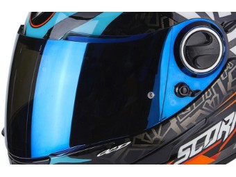 Visier blau verspiegelt EXO 490 500 1000 ROK BAGOROS passend