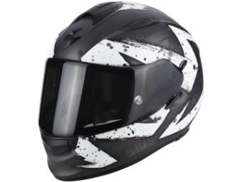 Motorradhelm EXO 510 AIR MARCUS matt schwarz silber