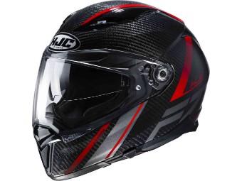 Helm F70 Carbon ESTON schwarz rot