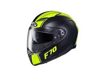 Motorradhelm F70 Mago schwarz gelb