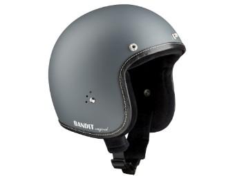 Premiumhelm asphaltgrau grau JETHELM Chopperhelm Helm