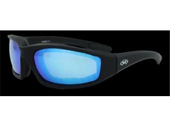 Brille Kickback GT Motorradbrille blau verspiegelt