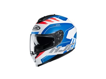 Motorradhelm C70 KORO weiß blau