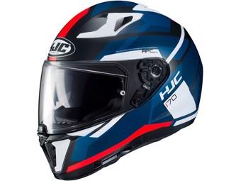 Motorradhelm i70 ELIM MC1SF blau weiß rot Helm UVP 249,-