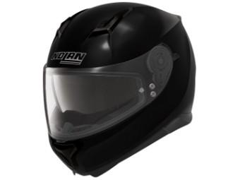 Motorradhelm N87 schwarz glanz