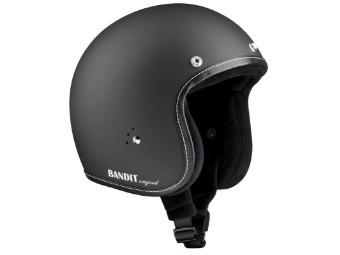 Premium matt schwarz JETHELM Helm Chopperhelm Jet