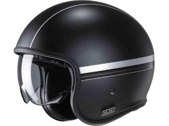 Jethelm V30 Equinox schwarz silber