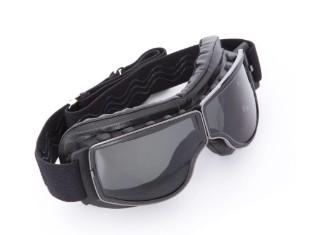 Biker Motorradbrille Boston dunkel getönt für Brillenträger geeignet