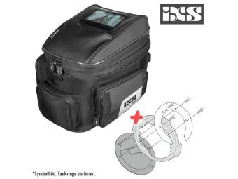 Tankrucksack Set Ormond 20 Liter mit passendem Adapter für Kawasaki Z 1000 R ABS