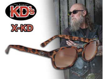 Original X-KD's Biker Sonnenbrille Tortoise braun verlaufende Gläser Jax Teller
