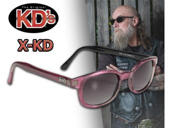 Original X-KDs Biker Chopper Sonnenbrille Lila Verlaufende Gläser