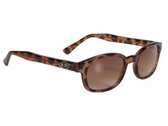 Original KDs Biker Chopper Sonnenbrille Tortoise braun Verlaufende Gläser