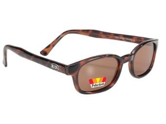 Original KDs Biker Sonnenbrille Amber Tortoise POLARISIERT