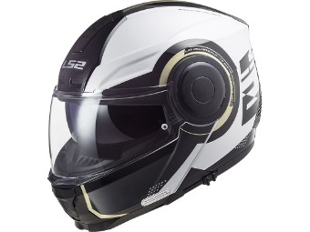 Motorrad Touren Klapphelm FF902 Scope Arch weiß/titanium