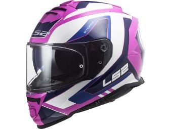 Motorrad Integralhelm FF800 Storm Techy weiß/pink mit Sonnenblende