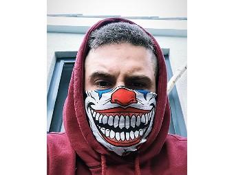 Halstuch Joker Clown Multifunktion Schlauchtuch Mund Loop