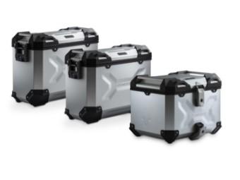 TRAX ADV Adventure Premium Aluminium  Kofferset inkl. Topcase und für Suzuki V-Strom 1000 / V-Strom 1000 XT