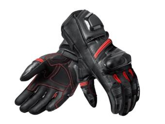 sportlicher Motorrad Handschuh League mit Knöchelschutz